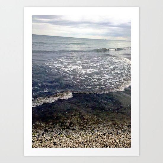 mussel beach. Art Print