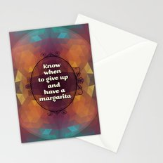 Words of wisdom - Have a margarita Stationery Cards
