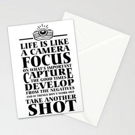 life motivation camera restart funny gift Stationery Cards