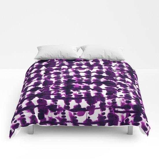 Parallel Purple Comforters