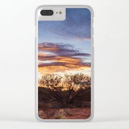 Australian Outback Sunset in Uluru Clear iPhone Case