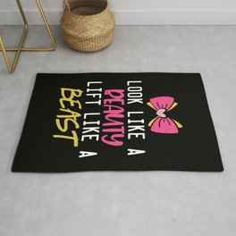 Lift Like A Beast Gym Quote Rug