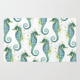 Seahorse: Green Rug