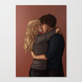 Bellarke kiss Canvas Print