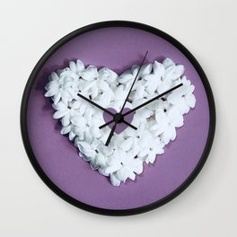 Purple You are in my heart Wall Clock