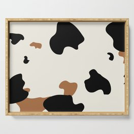 Cowhide Pattern Serving Tray