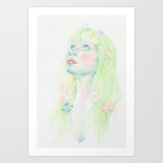 Pensive Green Art Print