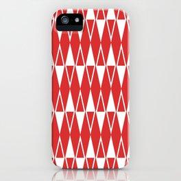 Mid Century Modern Diamond Pattern Red 234 iPhone Case