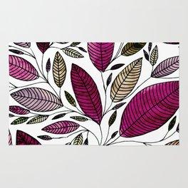 Rose Leaf Illustration Rug