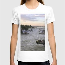 Mekong River Li Phi Waterfalls, sunrise, dawn, Laos T-shirt