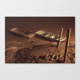 Boats in the River Canvas Print