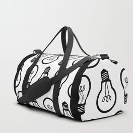 Simple Light Bulb Duffle Bag