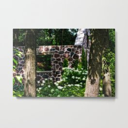 Abandoned Spring House Metal Print