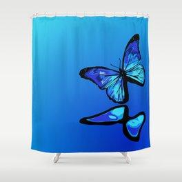 Butterflies light up Shower Curtain