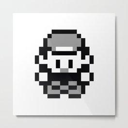 Pixel Retro Pokémon Trainer Metal Print