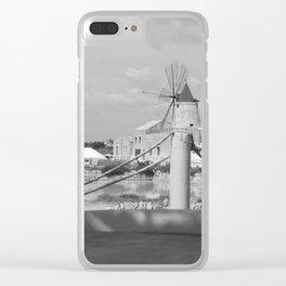 Salt flats in Marsala - Sicily Clear iPhone Case