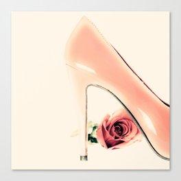 Pink Heel (Retro and Vintage Still Life Photography) Canvas Print