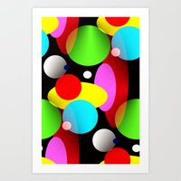 balloons Art Prints featuring Balloons by Artisimo