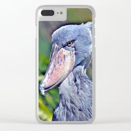 Shoebill Stork Clear iPhone Case