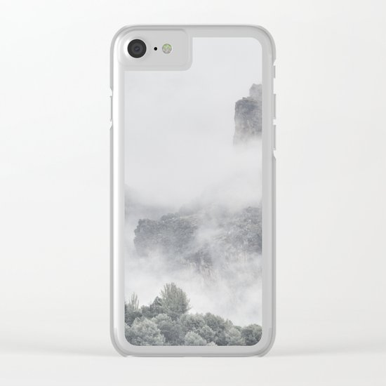 """The mountains are calling to me"" Clear iPhone Case"