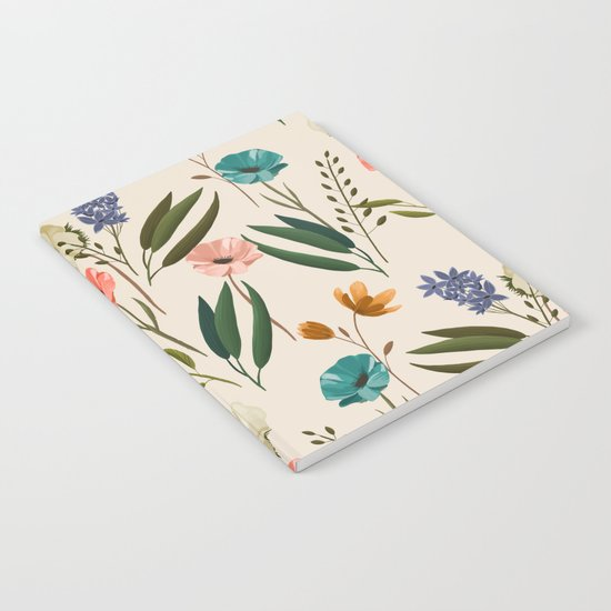 Floral 247 Cream Notebook