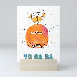 Yoga Dog - Praying Mini Art Print