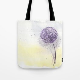 Purple dandelion in watercolor Tote Bag