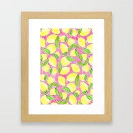 Pink Lemonade Pattern Framed Art Print
