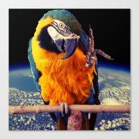 parrot Canvas Prints featuring Parrot by Cs025