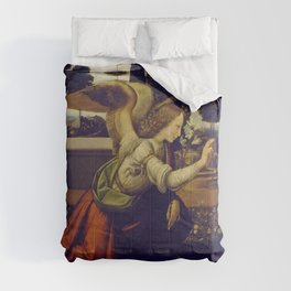 "Leonardo da Vinci ""Annunciation 1. (Archangel Gabriel)"" Comforters"
