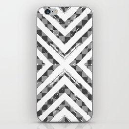 Grey Checkered Paattern iPhone Skin