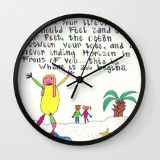 Sand Between Your Toes Wall Clock