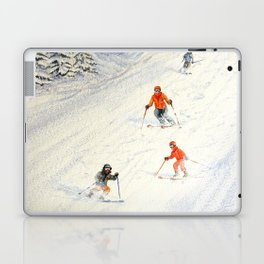 Skiing Family On The Slopes Laptop & iPad Skin