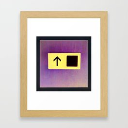 The only way is ... Framed Art Print