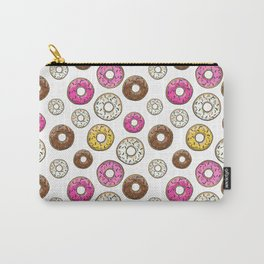 Donut Pattern - White Carry-All Pouch