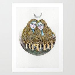 Goblin Market - illustration of poem by Christina Rossetti Art Print