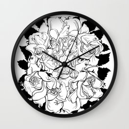 Fairy Tale #1 (Kissed by a Prince) Wall Clock