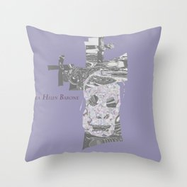 Chromed Cross 1 Throw Pillow