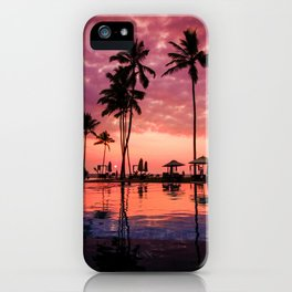 Paradise Sunset Tropical (Color) iPhone Case