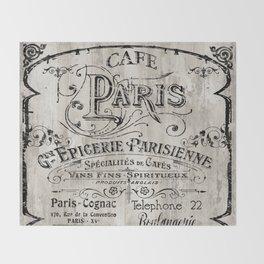Paris Bistro VIII Throw Blanket