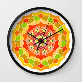 Henna tattoo style Wall Clock