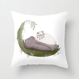 Sea Bunny Brawl Throw Pillow