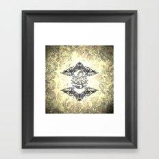 Decorative clef Framed Art Print