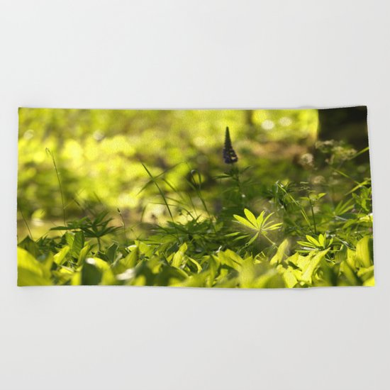 In The Summer Forest  Beach Towel