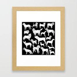 I LOVE DOGS (black) Framed Art Print