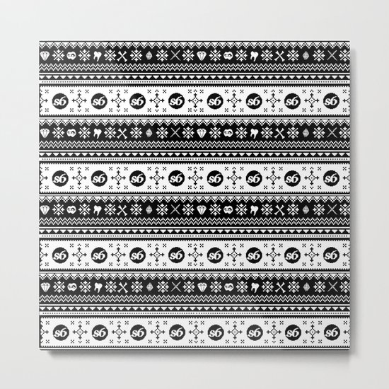 Ugly Sweater Society6 Metal Print