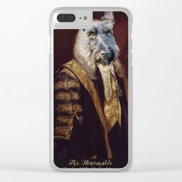 Lord Sniffly Whiffersmell Clear iPhone Case