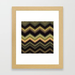 Zigzag Ultra Thin Crochet Texture Pattern Framed Art Print