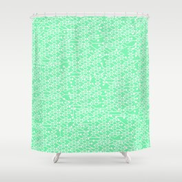 Microchip Pattern (Mint) Shower Curtain