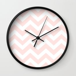 Misty rose - pink color - Zigzag Chevron Pattern Wall Clock